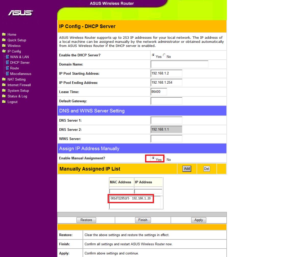 инструкция по настройке вай фай роутер асус wl-520gu