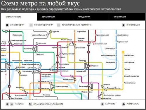 схему метро на любой вкус.